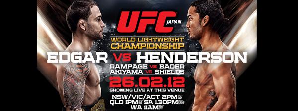 UFC 144 : Musiques d'entrée des combattants