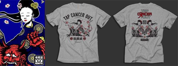 """T-shirt Meerkatsu """"Tap Cancer Out"""""""