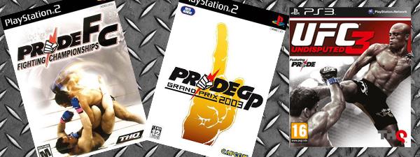 Les jeux vidéo Pride FC