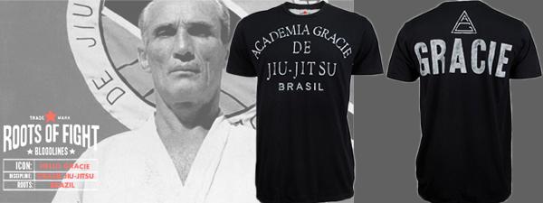 T-shirt Gracie Jiu-Jitsu Roots of Fight