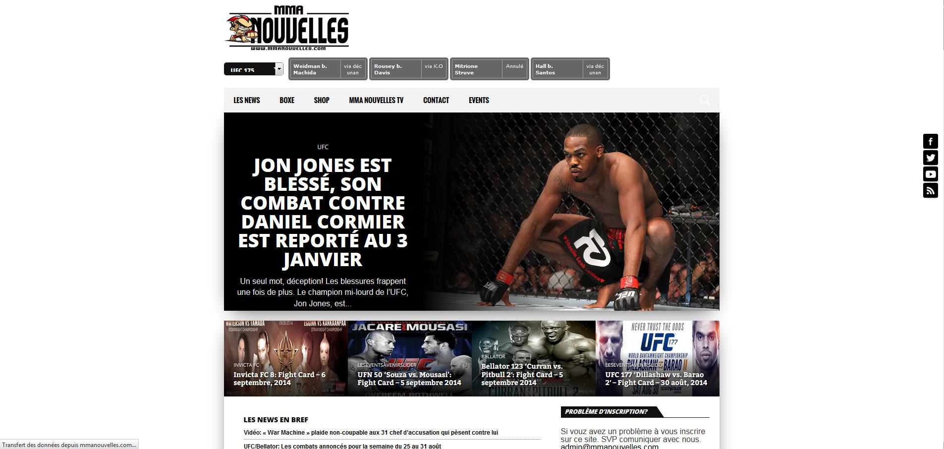 MMA-Nouvelles