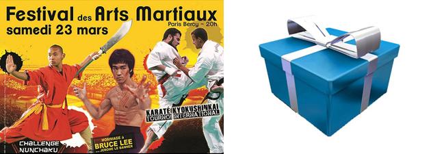 Jeu concours festival des arts martiaux