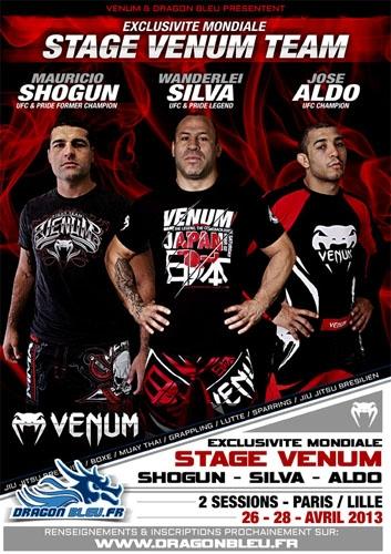 Stage Venum Wanderlei Silva Shogun Jose Aldo