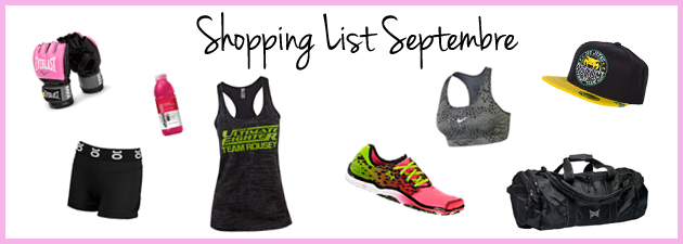 Lady-training-shopping-list-Septembre- globe-mma