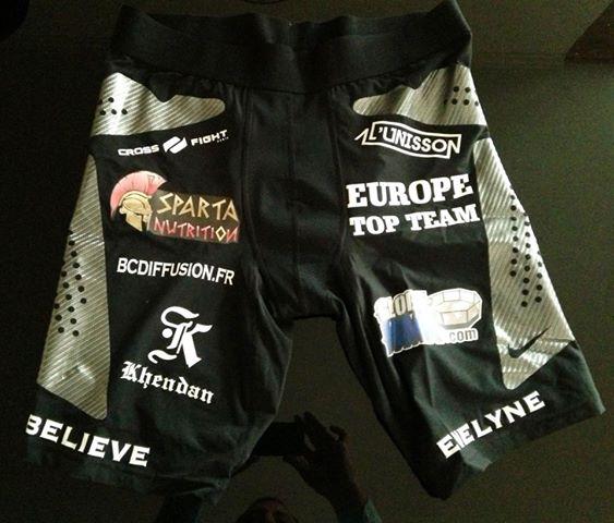 Fightshort Norman Paraisy SHC 8 Globe MMA