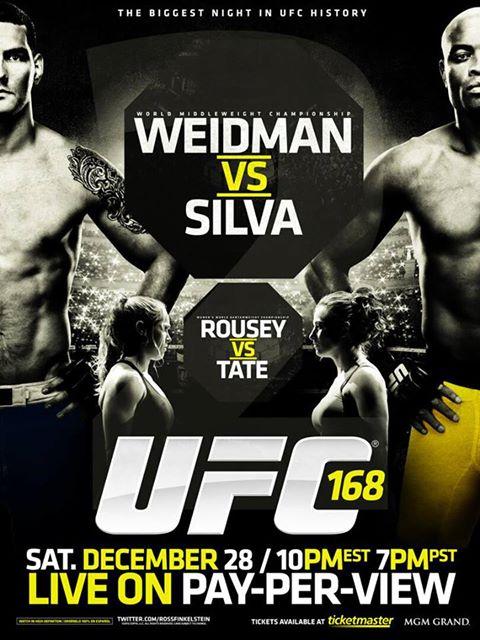 Ufc 168 Poster TST Las Vegas MMA Expe...