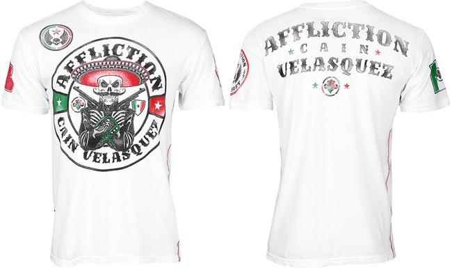 Cain Velasquez walkout t shirt UFC 166 white edition