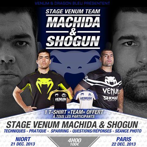 Stage Lyoto Machida Mauricio Shogun France Venum