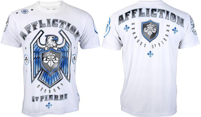 GSP Affliction UFC 167 Georges The Rush Saint Pierre White