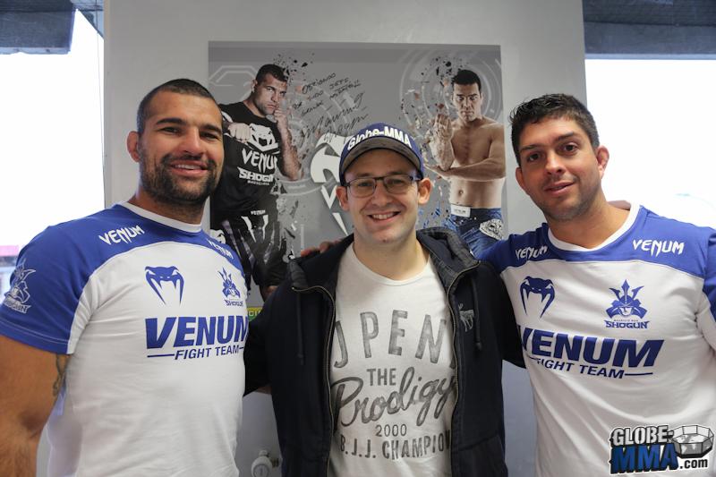 Mauricio Shogun JB Globe-MMA et André Vieira Venum