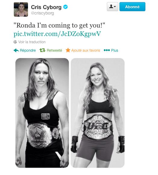 Cristiane Cyborg wants Ronda Rousey