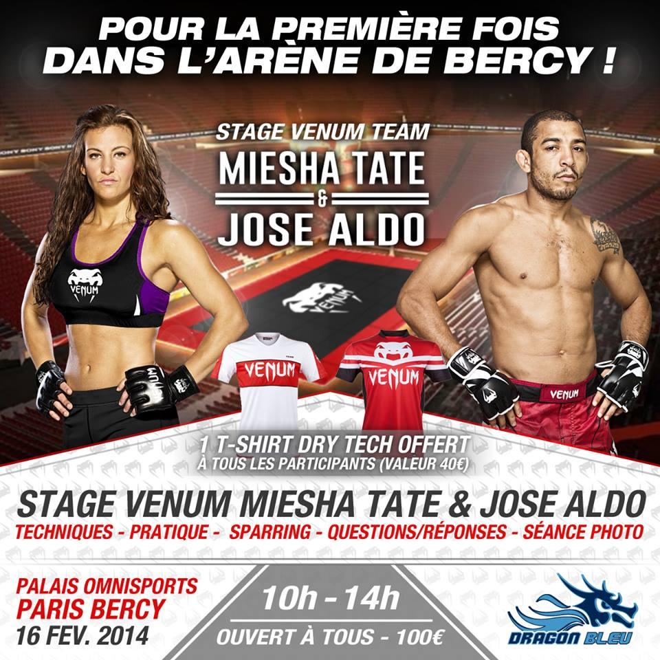 Stage Venum Miesha Tate et Jose Aldo