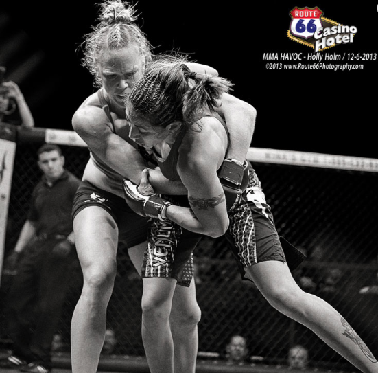 Holly Holm black and white