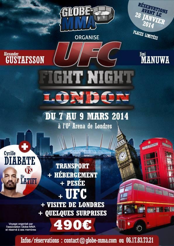 UFC Londres Globe MMA