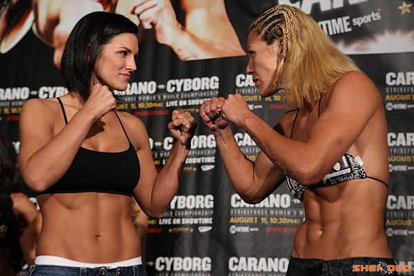 Gina Carano vs Cyborg staredown