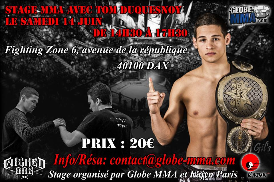 Stage MMA Tom FireKid Duquesnoy