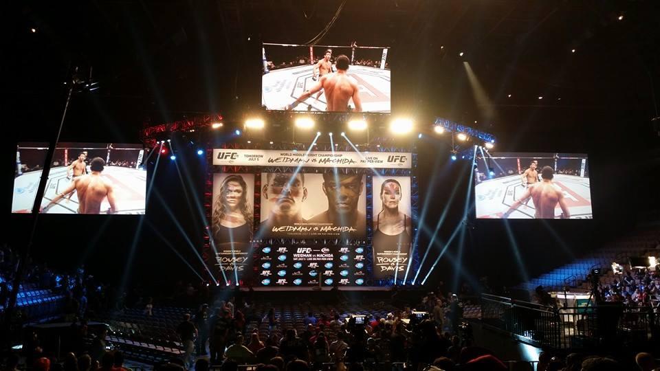 Pesée UFC 175 Chris Weidman Lyoto Machida Ronda Rousey Alexis Davis