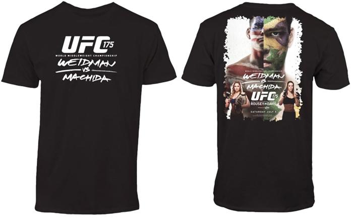 T-shirt UFC 175 Weidman vs Machida Rousey vs Davis