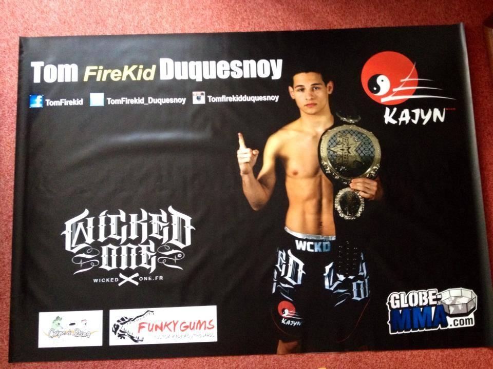 Banniere Tom Duquesnoy BAMMA 16 Globe MMA