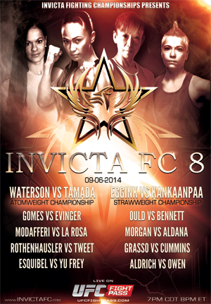 Invicta FC 8 Waterson vs Tamada