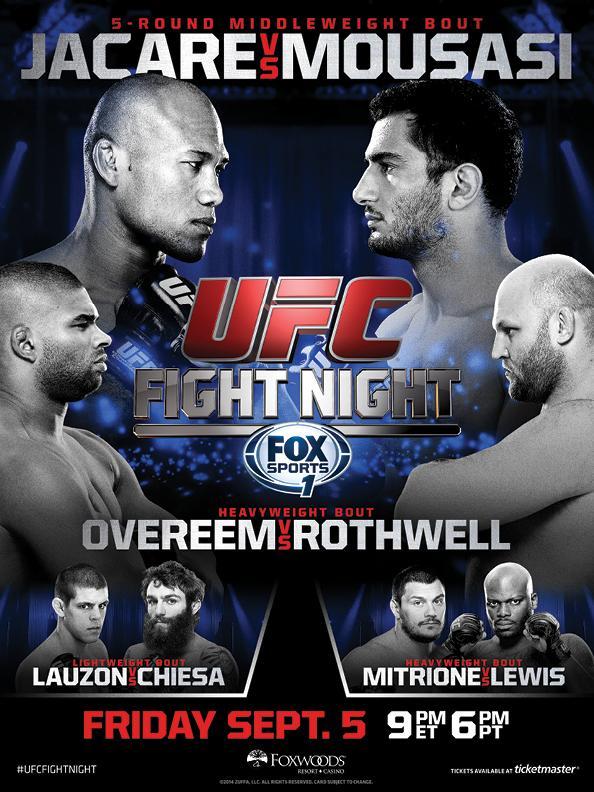UFC Fight Night 50 Jacare vs Mousasi