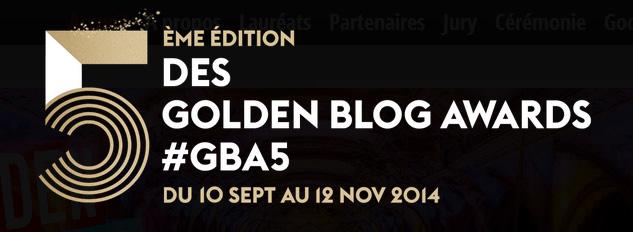 5eme edition des Golden Blog Awards