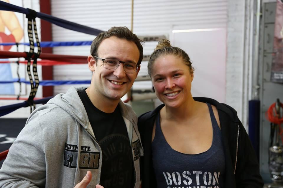 Jb Globe MMA et Ronda Rousey