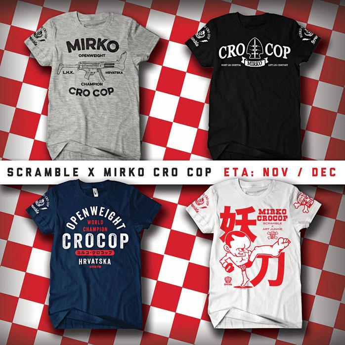Scramble t-shirts Mirko Cro Cop
