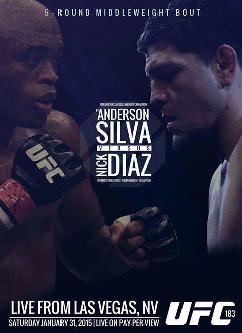 UFC 183 Anderson Silva vs Nick Diaz