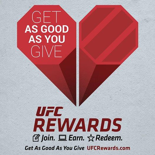 UFC Rewards Get As Good As you Give