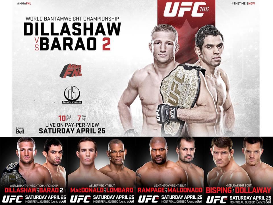 UFC 186 Dillashaw vs Barao 2