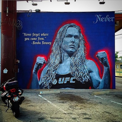 Ronda Rousey art Venice Beach