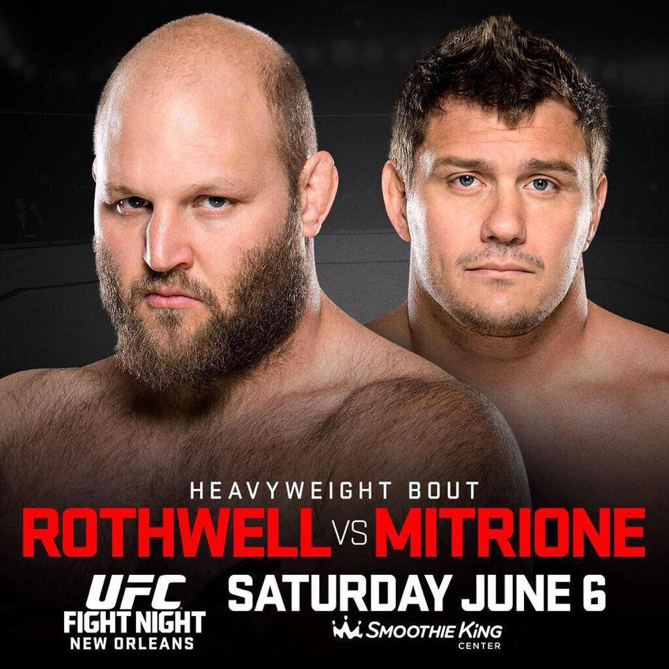 UFC Fight Night 68 Rothwell vs Mitrione